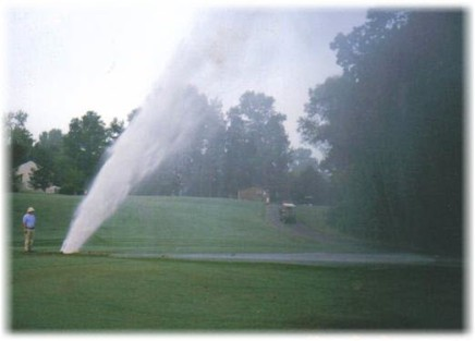 irrigation leak